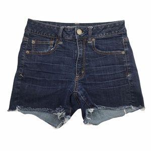American Eagle Denim Jean Cut Off Stretch Shorts